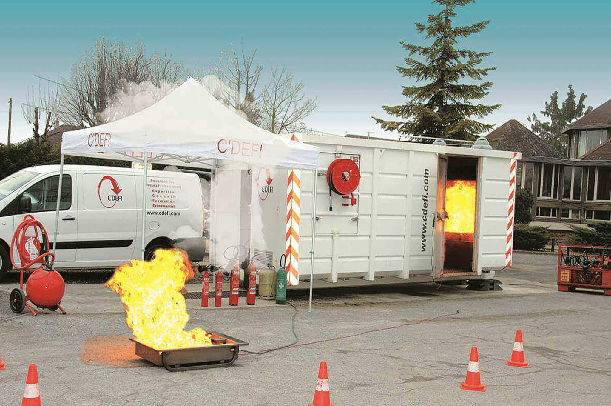 Evénement sécurité incendie avec CDéfi