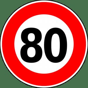 limitation de vitesse 80kmh